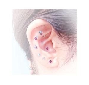 【お耳デザイン】紫陽花で彩るお耳
